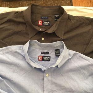 bundle of two Chaps long-sleeve shirts XXL